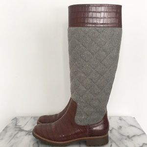 Sperry quilted riding boots